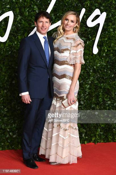 James Blunt and Lady Sofia Wellesley arrive at The Fashion Awards 2019 held at Royal Albert Hall on December 02 2019 in London England