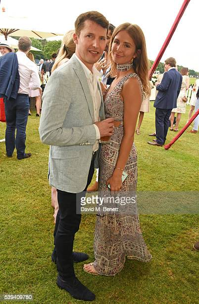 James Blunt and Millie Mackintosh attend The Cartier Queen's Cup Final at Guards Polo Club on June 11 2016 in Egham England