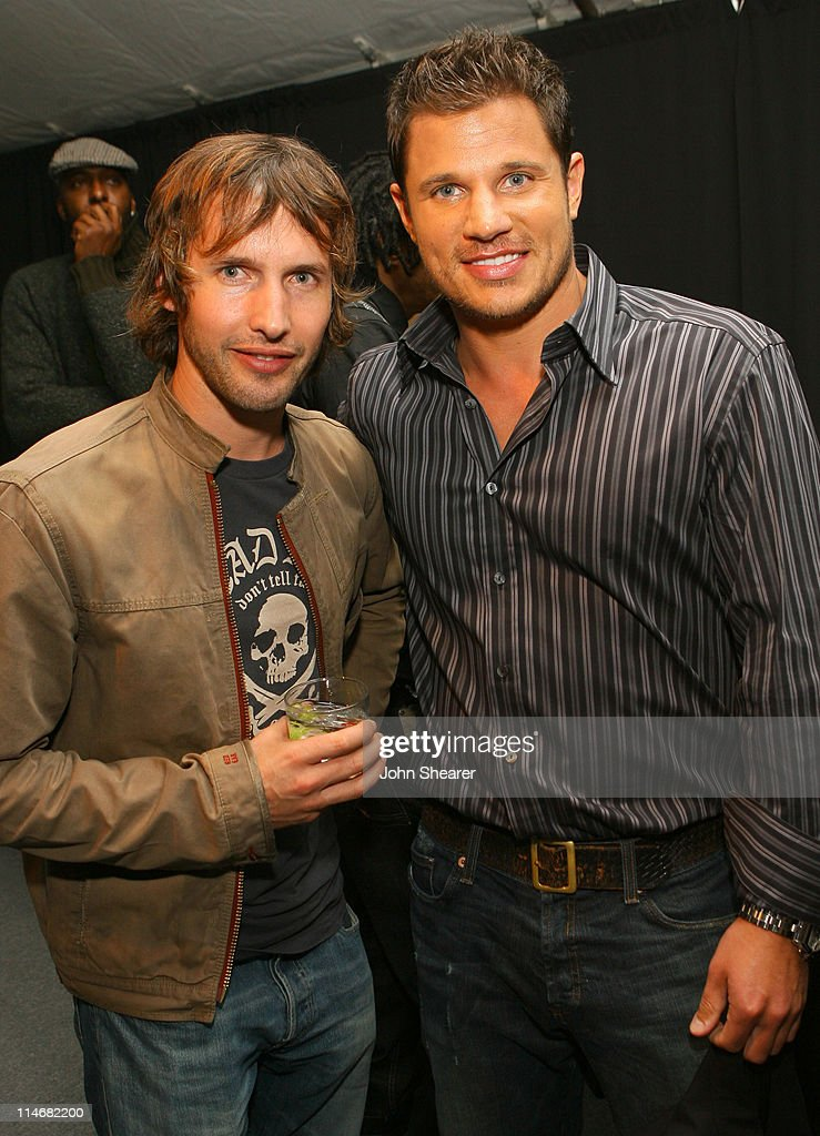 James Blunt and Nick Lachey during 2007 GM Style - Backstage at GM Pavilion in Detroit, Michigan, United States.