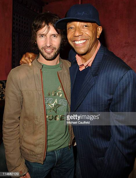 James Blunt and Russell Simmons during Global Green USA 3rd Annual PreOscar Celebration to Benefit Global Warming Inside at Avalon in Hollywood...