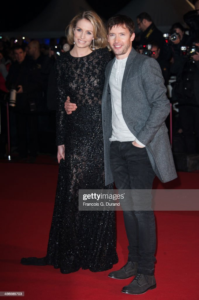 James Blunt and Sofia Wellesley attend the 15th NRJ Music Awards at Palais des Festivals on December 14, 2013 in Cannes, France.