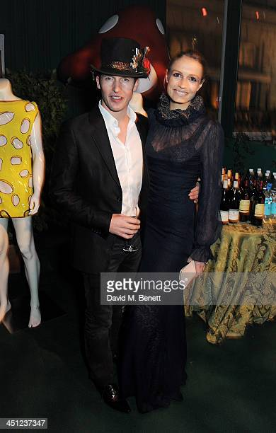 James Blunt and Sofia Wellesley attend the Adventure in Wonderland Ball held by The Reuben Foundation in aid of Great Ormond Street Hospital...