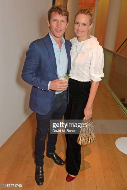 James Blunt and Sofia Wellesley attend the launch of Champagne Armand de Brignac Blanc de Noirs Assemblage Three at The National Portrait Gallery on...