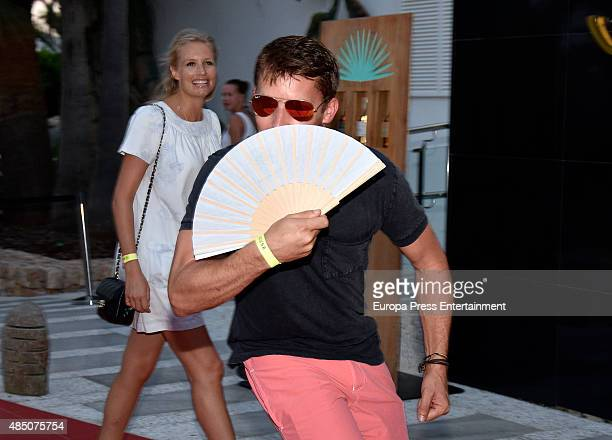 James Blunt and Sofia Wellesley attend the official launch of Casamigos Tequila in Ibiza, at Ushuaia Ibiza Beach hotel on August 23, 2015 in Ibiza,...