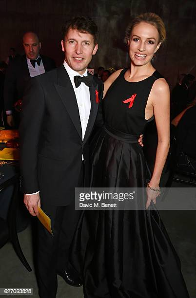 James Blunt and Sofia Wellesley attend 'The Radical Eye' dinner and private view for the Elton John Aids Foundation in association with Bulgari on...