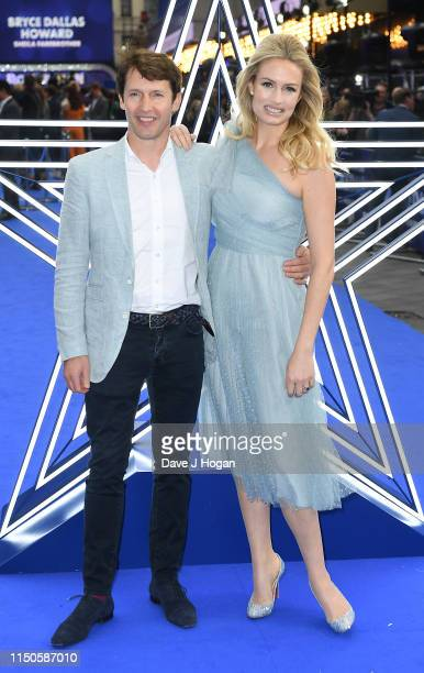 """James Blunt and Sofia Wellesley attend the """"Rocketman"""" UK premiere at Odeon Leicester Square on May 20, 2019 in London, England."""