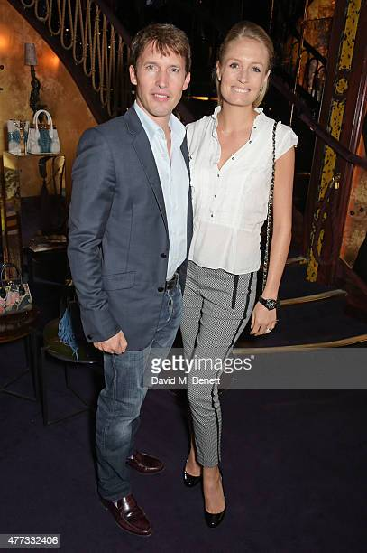 James Blunt and Sofia Wellesley attend the Walkabout Foundation Event hosted by Dee Ocleppo And Tommy Hilfiger at Loulou's on June 16 2015 in London...
