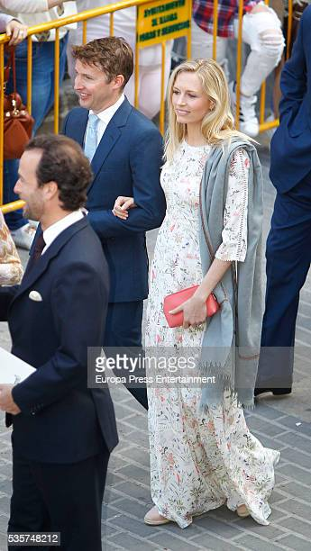 James Blunt and Sofia Wellesley attend the wedding of Lady Charlotte and Alejandro Santo Domingo on May 28 2016 in Granada Spain