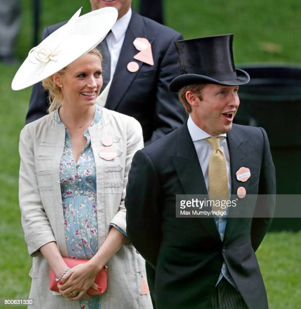James Blunt and wife Sofia Wellesley attend day 5 of Royal Ascot at Ascot Racecourse on June 24 2017 in Ascot England