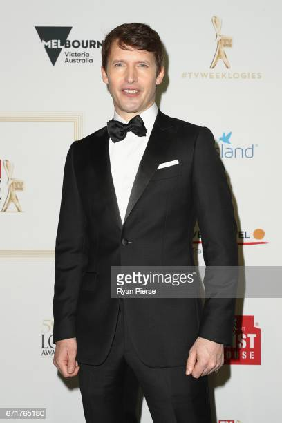 James Blunt arrives at the 59th Annual Logie Awards at Crown Palladium on April 23, 2017 in Melbourne, Australia.