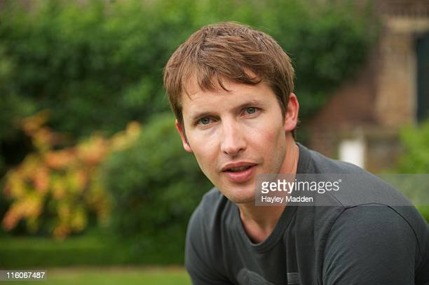 James Blunt backstage at the Hampton Court Palace Festival at Hampton Court Palace on June 14 2011 in London England