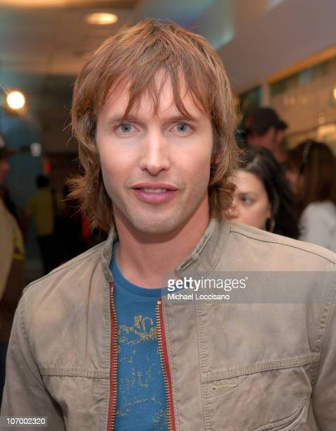 James Blunt during Cassie and James Blunt Visit MTV's 'TRL' September 29 2006 at MTV Studios Times Square in New York City New York United States