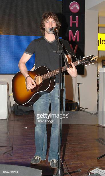 James Blunt during James Blunt In-Store Performance and Album Signing at HMV in London - May 31, 2005 at HMV Oxford Street in London, Great Britain.