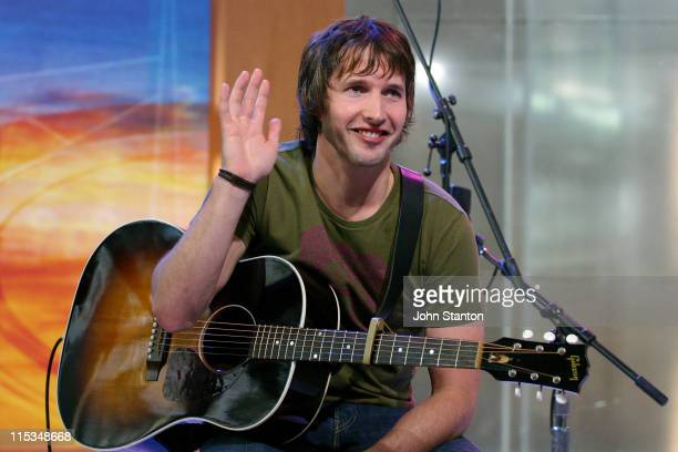 """James Blunt during James Blunt performs on the Channel 7's """"Sunrise"""" - August 26th, 2005 at Channel 7 Sydney in Sydney, NSW, Australia."""