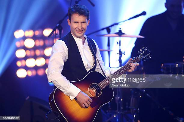 James Blunt is seen on stage at the GQ Men Of The Year Award 2014 at Komische Oper on November 6 2014 in Berlin Germany