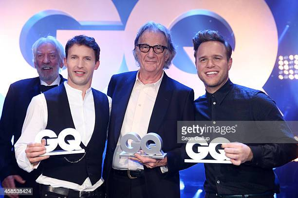 James Blunt Paul Smith and Olly Murs are seen on stage at the GQ Men Of The Year Award 2014 at Komische Oper on November 6 2014 in Berlin Germany