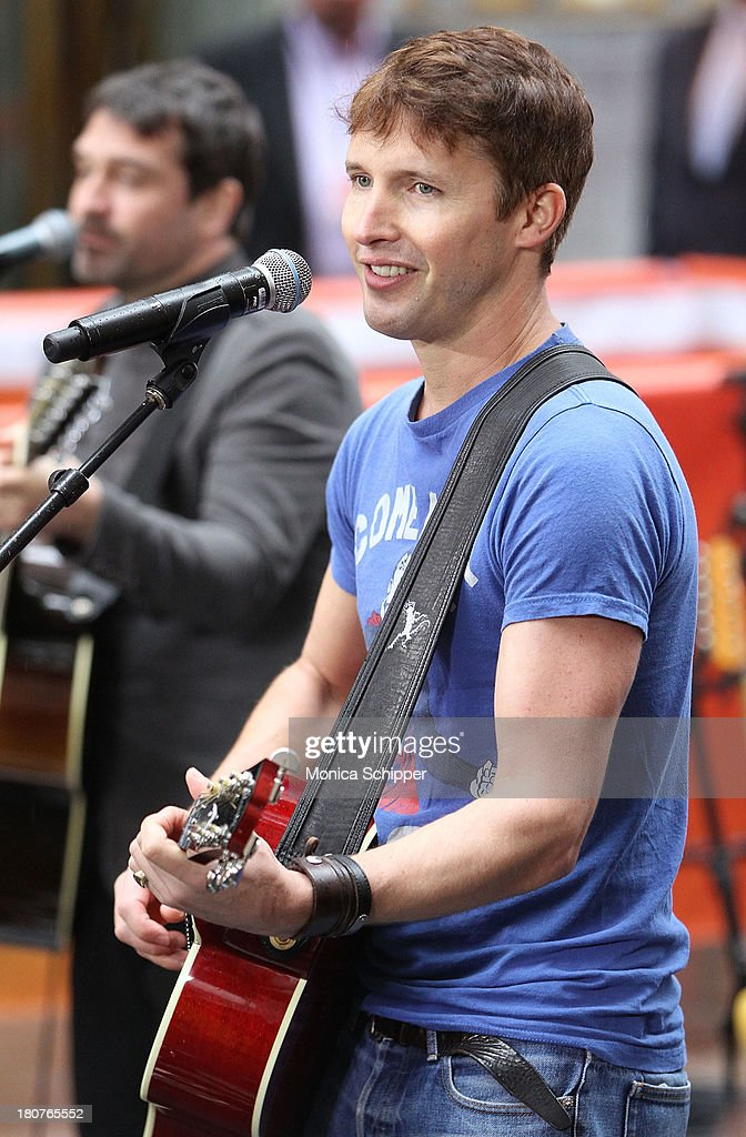James Blunt peforms on NBC's 'Today' at NBC's TODAY Show on September 16, 2013 in New York City.