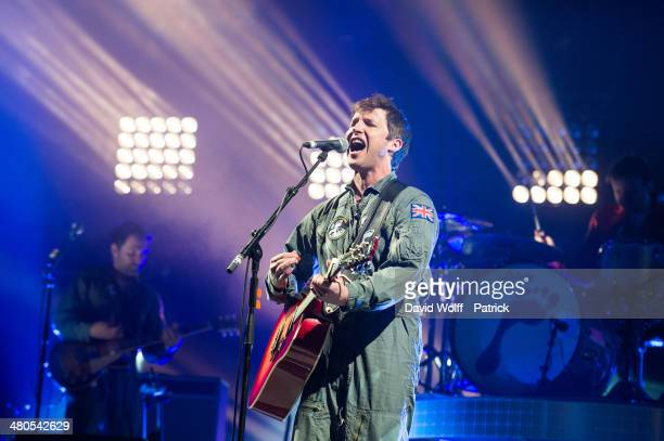 James Blunt performs at Le Zenith on March 25 2014 in Paris France