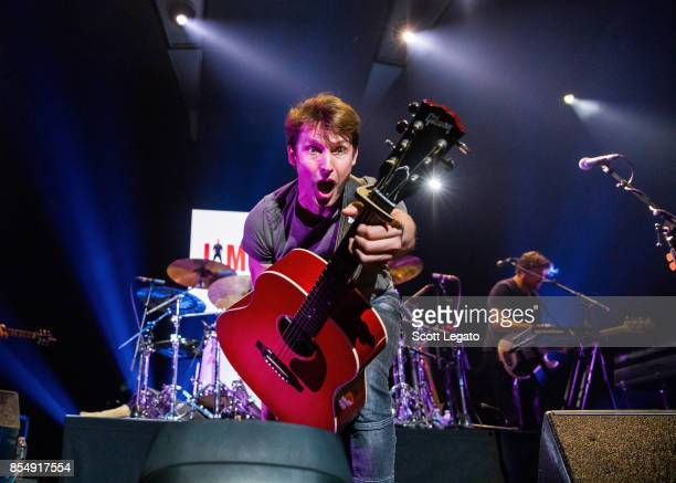 James Blunt performs at Little Caesars Arena on September 27, 2017 in Detroit, Michigan.