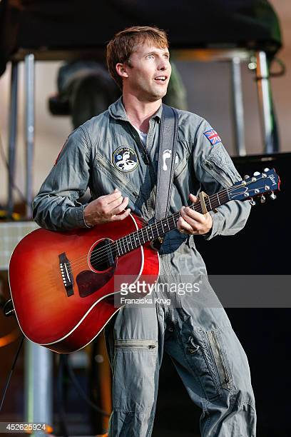 James Blunt performs at the Thurn Taxis Castle Festival 2014 on July 24 2014 in Regensburg Germany