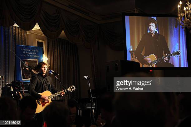 James Blunt performs during the UJAFederation's 2010 Music Visionary of the Year award luncheon>> at The Pierre Ballroom on June 16 2010 in New York...