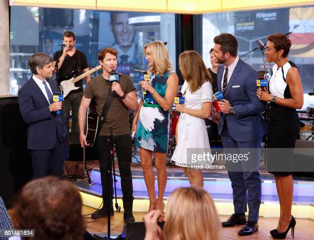 AMERICA James Blunt performs live on Good Morning America Monday June 26 airing on the Walt Disney Television via Getty Images Television Network...