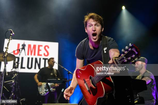 James Blunt performs on stage at American Airlines Arena on August 30 2017 in Miami Florida