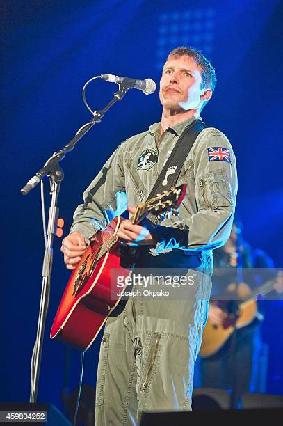 James Blunt performs on stage at Eventim Apollo Hammersmith on December 1 2014 in London United Kingdom