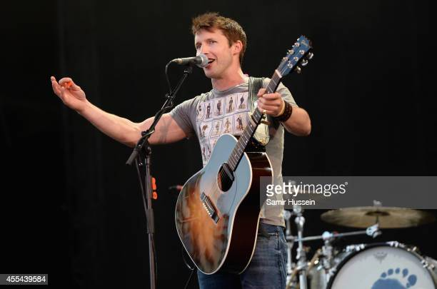 James Blunt performs onstage during the Invictus Games Closing Concert at the Queen Elizabeth Olympic Park on September 14 2014 in London England