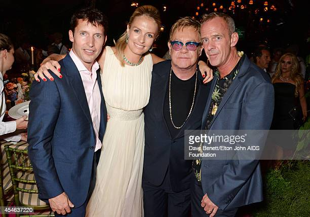 James Blunt, Sofia Wellesley, Sir Elton John and Fatboy Slim attend the Woodside End of Summer party to benefit the Elton John AIDS Foundation...