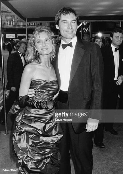 'James Bond' actors Maryam d'Abo and Timothy Dalton attending the premiere of their movie 'Living Daylights' Odeon Leicester Square London June 29th...