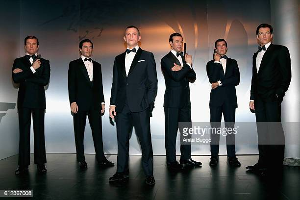 James Bond figures are unveiled at Madame Tussauds on October 4 2016 in Berlin Germany Madame Tussauds in Berlin is unveiling 7 different James Bond...