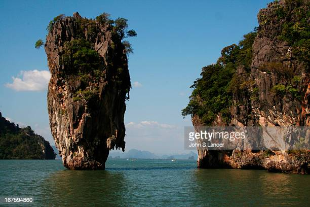 James Bond Island called Koh Tapu by locals one of the main tourist attractions in Phang Nga bay as it featured in 'The Man with the Golden Gun'...