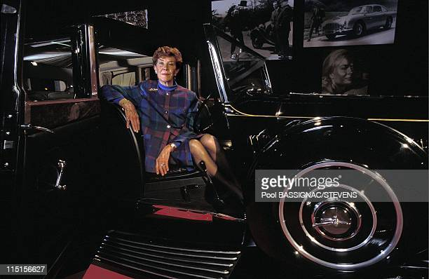 James Bond's cars at the international auto show in Paris, France in October, 1996 - Rolls Royce, Lois Maxwell .