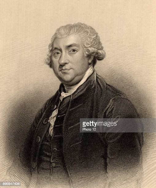 James Boswell Scottish diarist manofletters and biographer of Dr Samuel Johnson Engraving after the portrait by Joshua Reynolds from 'A Biographical...