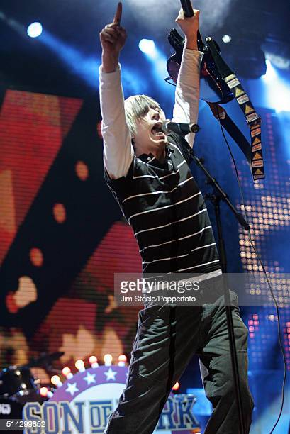 James Bourne of the Son Of Dork performing on stage at the T4 Poll Winners' Party 2005 With Smash Hits at Wembley Arena Pavilion on November 20th...