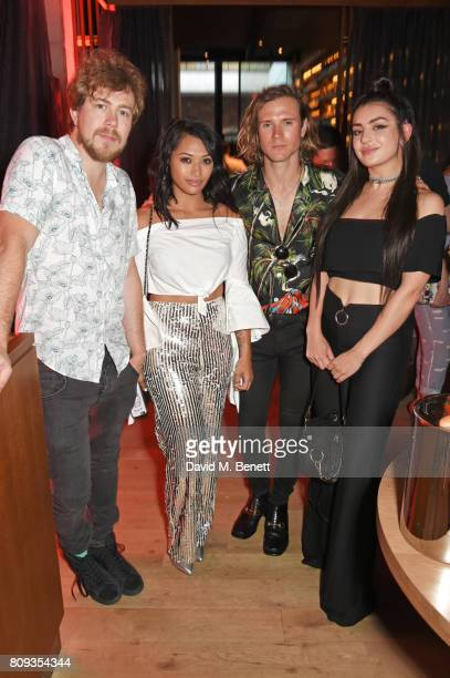 James Bourne Vanessa White Dougie Poynter and Charli XCX attend the Warner Music Group and British GQ Summer Party in partnership with...