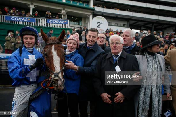 James Bowen riding Raz De Maree with Trainer Gavin Cromwell win The Coral Welsh Grand National Handicap Steeple Chase at Chepstow racecourse on...