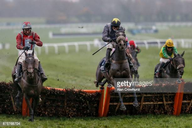 James Bowen riding Thomas Campbell clear the last to win The Regulatory Finance Solutions Handicap Hurdle Race at Cheltenham racecourse on November...
