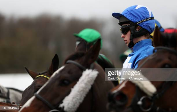 James Bowen with Raz De Maree at the start of the Coral Welsh Grand National Handicap Chase during Coral Welsh Grand National Day at Chepstow...