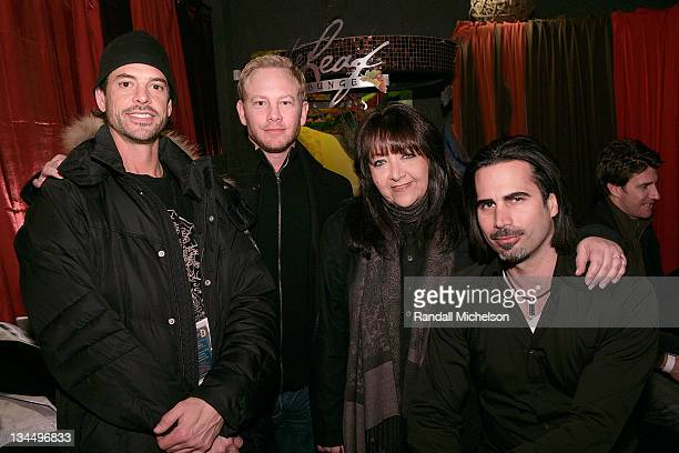 James Boyd Actor Ian Ziering Doreen Ringer Ross BMI and producer Marcus Canter attends the BMI Big Crowded Room Party at the Leaf Lounge during the...