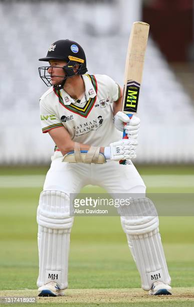 James Bracey of Gloucestershire is seen in his stance during Day Two of the LV= Insurance County Championship match between Middlesex and...