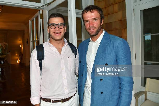 James Bradford and Teymuraz Gabashvili attend Anne Hearst McInerney and Jay McInerney's celebration of Amanda Hearst and Hassan Pierre's Maison de...