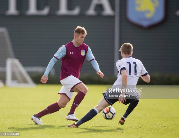 James Bree of Aston Villa during the Premier League 2 match between Aston Villa and Middlesbrough at Bodymoor Heath on January 29 2018 in Birmingham...