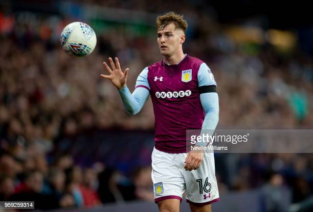 James Bree of Aston Villa during the Sky Bet Championship Play Off Semi Final Second Leg match between Aston Villa and Middlesbrough at Villa Park on...