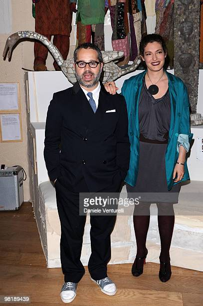 James Brett and Ginevra Elkann attend the press preview of the ''The Museum Of Everything'' at the Pinacoteca Giovanni e Marella Agnelli on March 31...