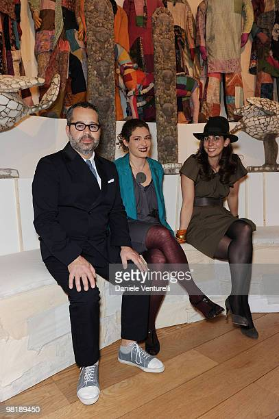 James Brett Ginevra Elkann and Tamara Corm attend the Press Preview of the The Museum Of Everything at the Pinacoteca Giovanni e Marella Agnelli on...