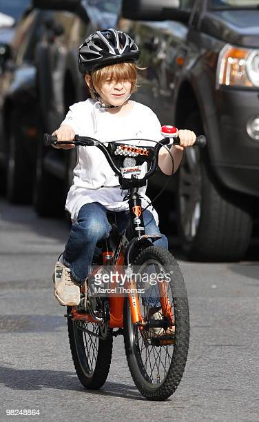 James Broderick is seen riding his new bike in the West Village on April 4 2010 in New York New York