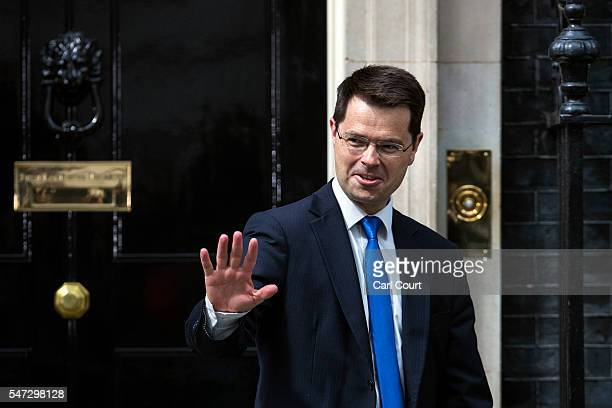 James Brokenshire leaves after meeting Prime Minister Theresa May where he was appointed the position of Secretary of State for Northern Ireland at...