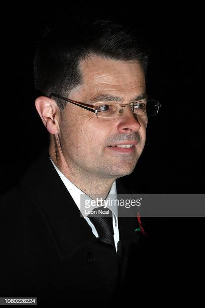 James Brokenshire MP Secretary of State for Housing Communities and Local Government attends a service marking the centenary of WW1 armistice at...